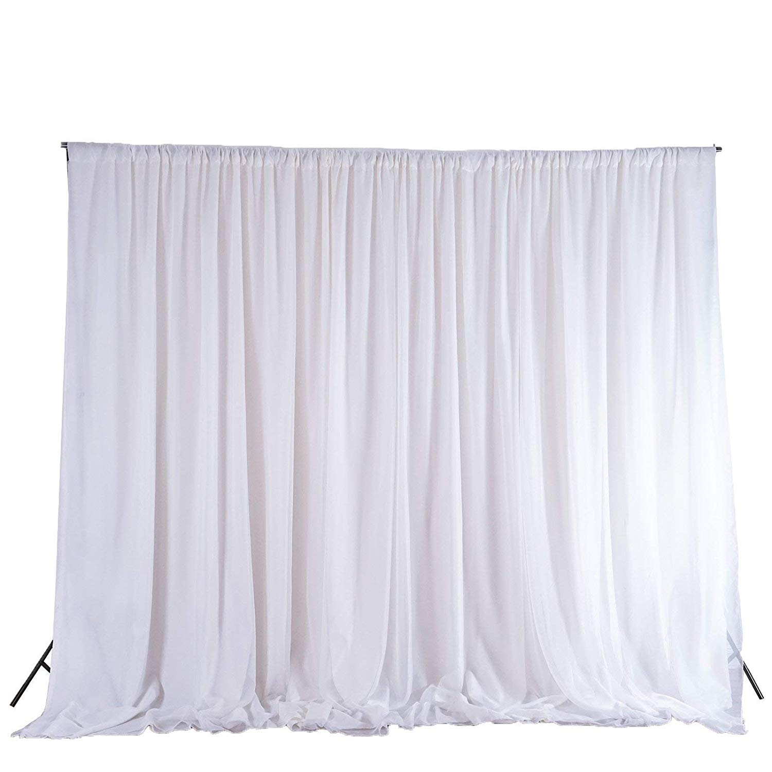 Pipe and Draping - White