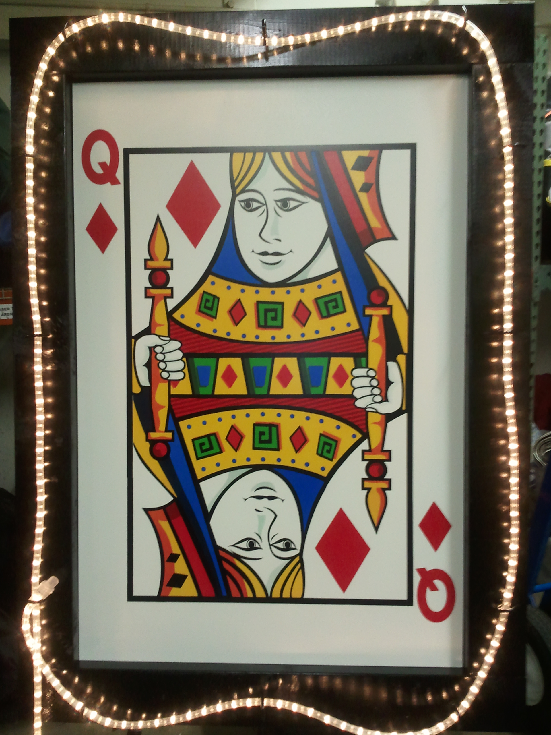 Lighted Queen Playing Card